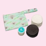 Cheeky Wipes Make up removal Exfoliating KIT - bamboo/cotton Luxury