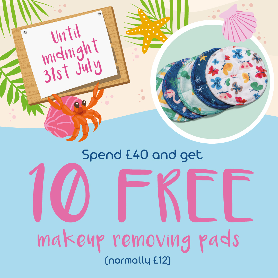 10 free reusable makeup removing pads when you spend £40