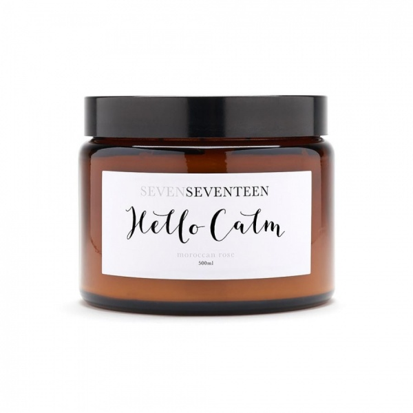 SevenSeventeen - Mood Boosting Candles - Hello Calm - Moroccan Rose