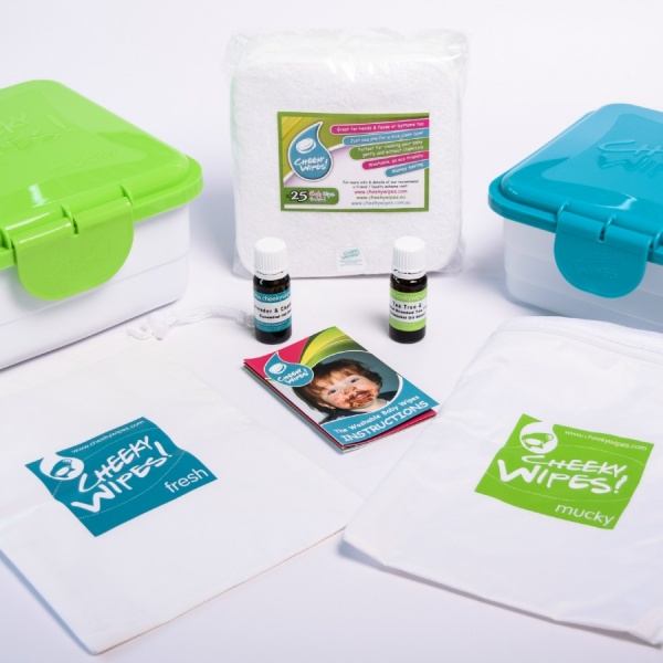 Reusable Cloth Baby Wipes Workhorse WHITE All-In-One Kit From Cheeky Wipes