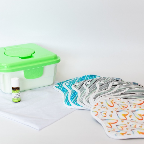 Luxury Cheeky Cotton Cloth Period & Pee Protection Pad Full Kits