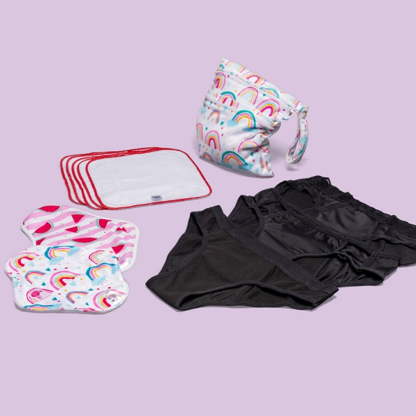 Keep it Simple Reusable Period Protection Starter Kit (Kiss) MIXED Styles