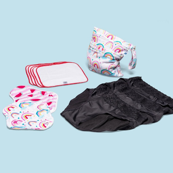 Keep it Simple Reusable Period Protection Starter Kit (Kiss) With PRETTY Style Pants