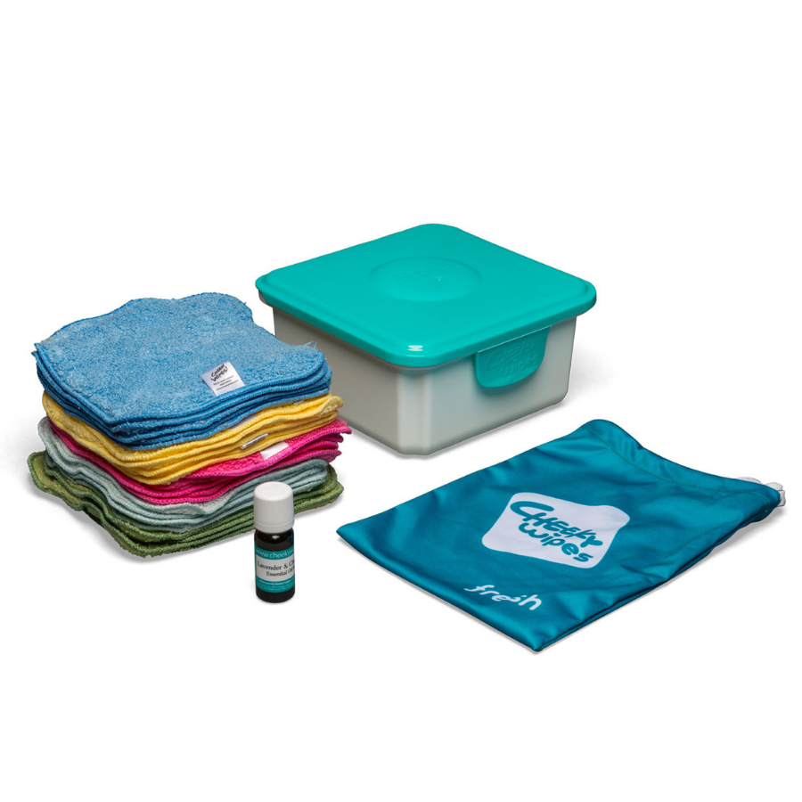 Cheeky Baby Wipes PREMIUM Mini Kit for Cloth Nappy Users