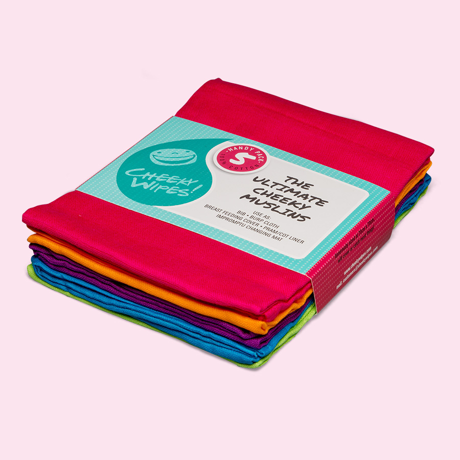 Cheeky Wipes 100% Cotton Muslins