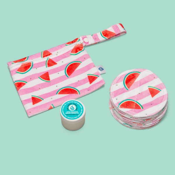 Cheeky Wipes Luxury Make up removal KIT with Storage Bag