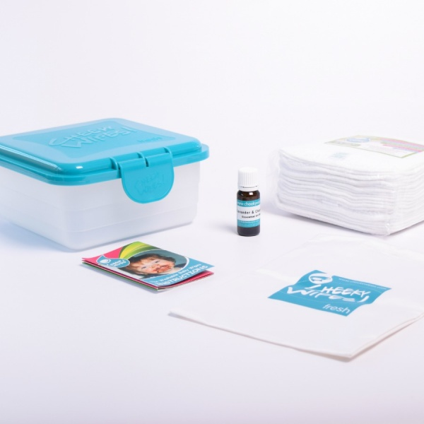 Cheeky Baby Wipes Workhorse WHITE Mini Kit for Cloth Nappy Users