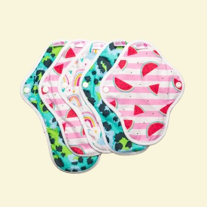 Cheeky Pants Cloth Period Pads 5 MULTI-PACK - Cotton- Mixed Use