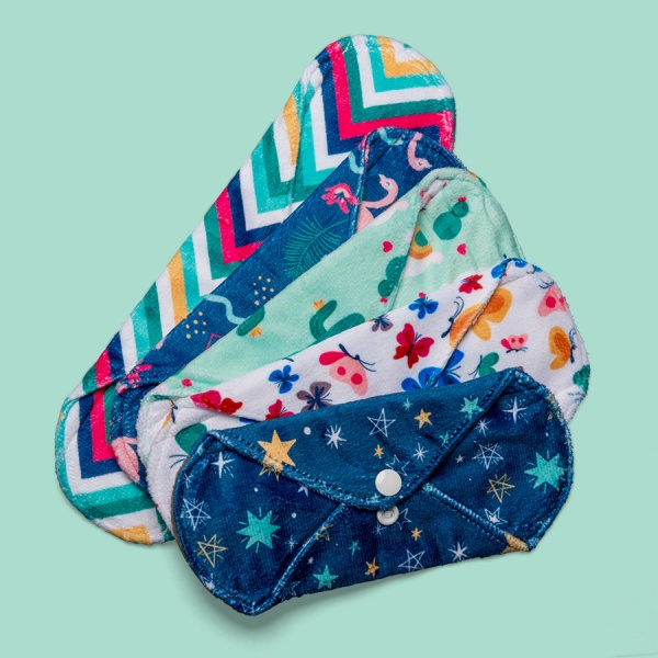 Cheeky Pants Cloth Sanitary Pads 5 MULTI-PACK - Minky - Mixed Use