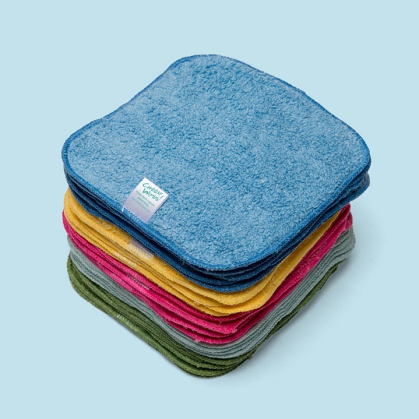 ORGANIC RAINBOW Cotton Terry Cloth Washable Baby Wipes
