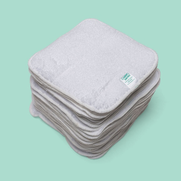 Washable Baby Wipes - Cotton Terry Cloth - 15cm x 15cm square - perfect size