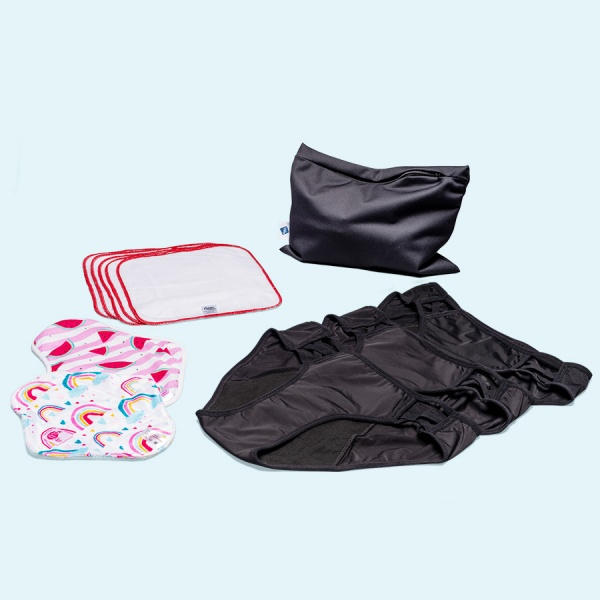 Keep it Simple Reusable Period Protection Starter Kit (Kiss) With SASSY Style Pants