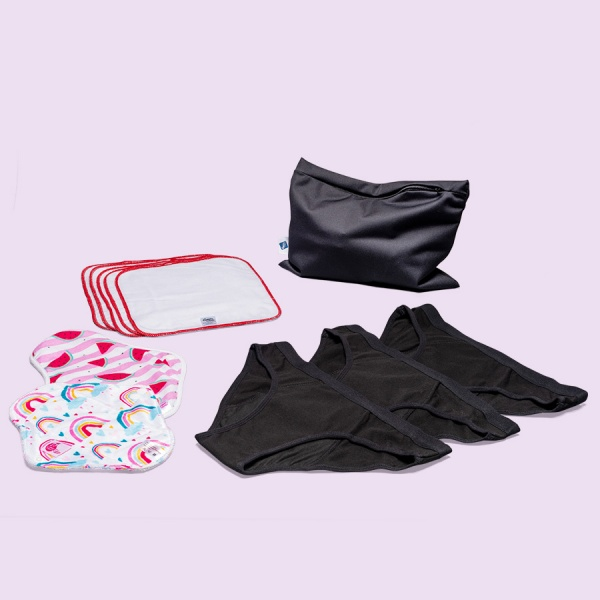 Keep it Simple Reusable Period Protection Starter Kit (Kiss) SPORTY Style