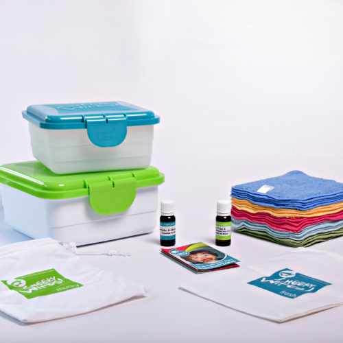 Reusable Cloth Baby Wipes - All-In-One Kit From Cheeky Wipes