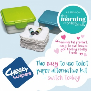 Toilet Roll Alternative Family Cloth Wipes Kit with Cotton Terry Wipes