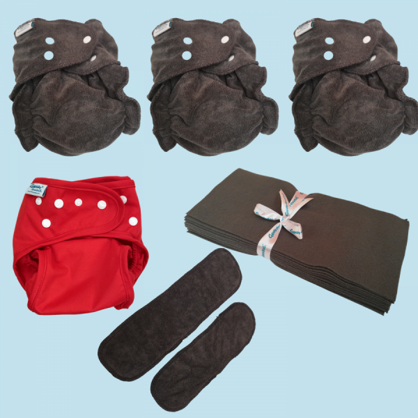 Cheeky Doodoo Reusable Cloth Nappy - Starter Bundle